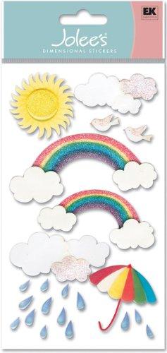 Le Grande Vellum Dimensional Stickers - Jolee's Boutique Vellum Stickers, Rainbow