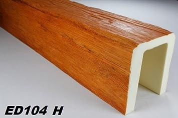 2 metros Decoración Barra techo madera imitación 190 x 170 mm ed104 H Serie Modern: Amazon.es: Bricolaje y herramientas