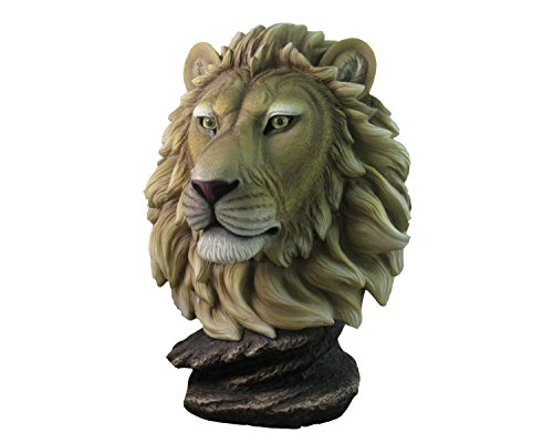 African Lion Table Bust By DWK | Safari Wildlife Serengeti Statue And Sculpture Home Decor - Safari Statue