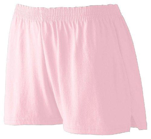 Augusta Ladies' Trim Fit Jersery Short Light Pink Xs