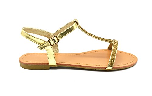 Oh My Shop Women's Heel strap Gold OapnBULw5