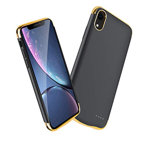 Compatible Apple iPhone xr Battery case Charging cases-6000mAh Extended Charger Power Case Charger Protective Charging Case Cover 6.1- Black