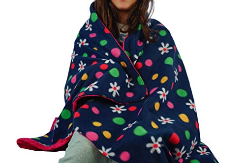 Flannel Daisies - Created by Laura I Fleece Throw Blanket I Super Soft Microfiber Fleece and Flannel Reversible Plush Blankets for Bed, Sofa and Pets - 38