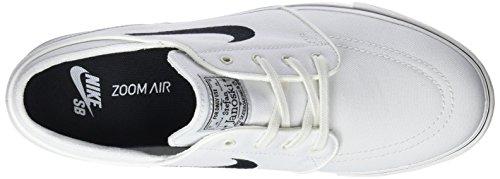 Nike Zoom Stefan Janoski CNVS 100, Baskets Mixte Adulte Ivoire (Summit White/Black 615957-100)