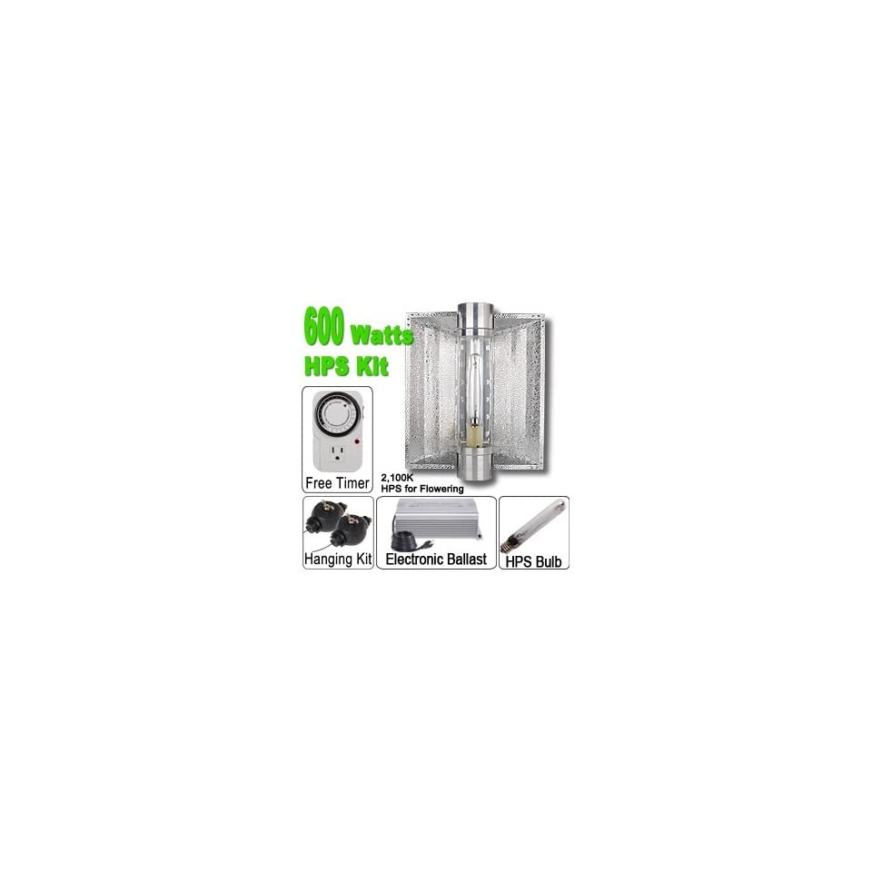 600 Watt HPS Grow Light Electronic Ballast Cool Tube