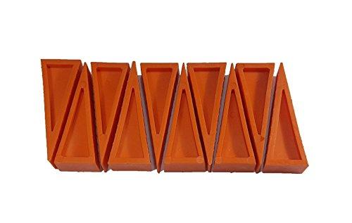 LINE2design Firefighter Door Stopper Safety Combo Wedge Pack Door Stop Loose Sprinkler Stops Safety Wedges Doors Opener (Pack of 10, Orange) by LINE2design