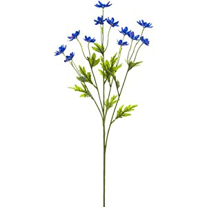 "Silk Flower Arrangements 27"" Silk Mini Cosmos Flower Spray -Blue (Pack of 12)"
