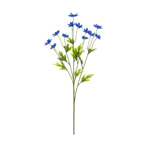 27″ Silk Mini Cosmos Flower Spray -Blue (Pack of 12)