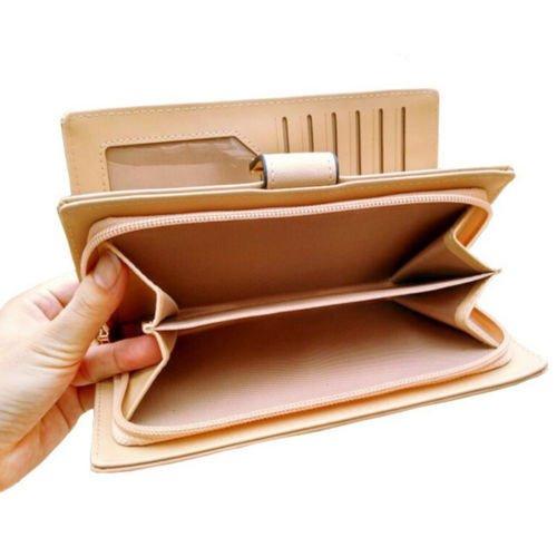 Amazon.com : Money coming shop 2017 Women Wallets Leaf Bifold Wallet Leather Clutch Women Card Holder Purse Lady Long Handbag carteras mujer purse ...