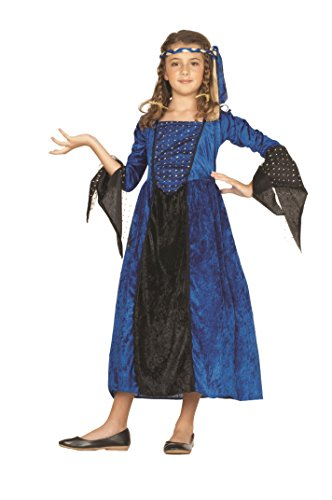 RG Costumes Blue Renaissance Girl Costume, Blue/Black, Medium -