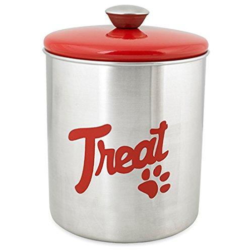 Buddy's Line Stainless Steel Top Treat Jar, 16 oz, Red by Buddy's Line