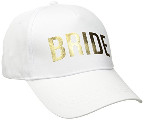 Betsey Johnson Women's Bridal Baseball Hats, White, One Size - Bridal Womens Hat