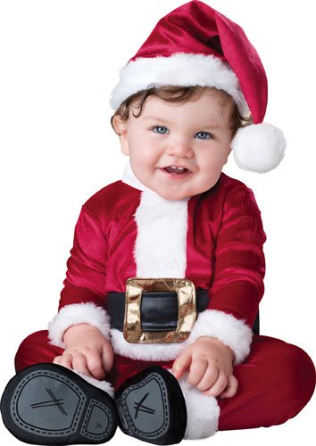 InCharacter Costumes Baby's Baby Santa Costume, Red/White, Large (18-24 Months) ()