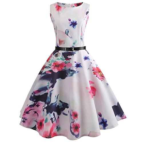 WOCACHI Women's Floral Maxi Dress Deep V-Neck Back Cross Bandage Hollow Out Elegant Sleeveless Strap Party Long Dresses Beachwear 2019 Summer New Deals Sales Under 25 Dollars ()