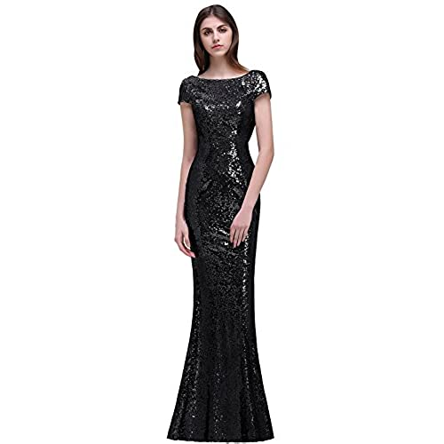 Black Sequin Formal Dress: Amazon.com