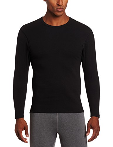 Duofold Crew Long Underwear - Duofold Men's Heavy Weight Double Layer Thermal Shirt, Black, X-Large