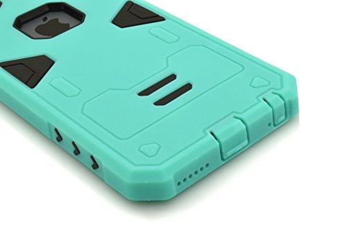 """IPhone 6S Plus Coque,IPhone 6 Plus Coque,Lantier Guerrier Series Hybrid Dual Layer Soft Coque Outer Rubber Cover Defender Avec dur PC interne Armure pour Apple IPhone 6 Plus/6S plus 5.5 """"Mint Green +"""