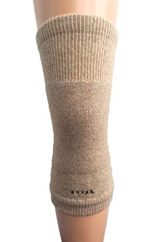 (Men Women Knee Braces Warm Soft 70% Camel Wool Kneepads Beige Arthritis, 1 Pair. Made in Mongolia.)