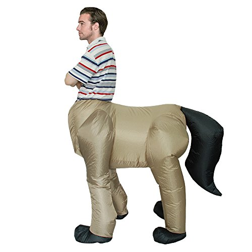 Douself Adult Inflatable Costume Horse Fancy Dress Rider for Festival Party Gala Parade Halloween Cosplay (Horse And Rider Costumes For Halloween)