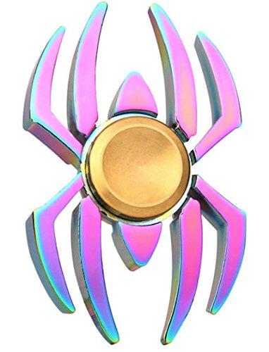 Rainbow Chameleon Spider Metal Edc Fidget Spinner By Blinkee