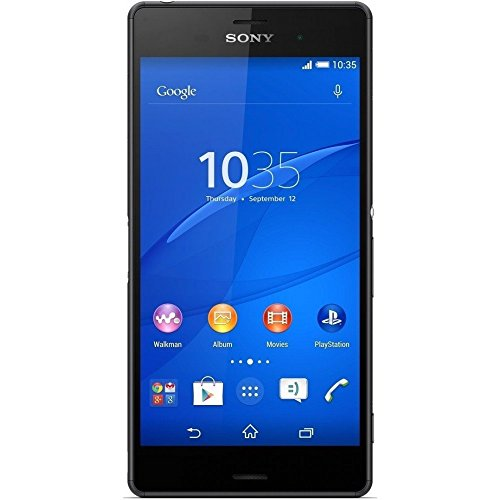 Sony Xperia Z3v D6708 32GB Unlocked GSM 4G LTE IP68 Certified Water-Resistant 20MP Camera Smartphone, Black (Certified Refurbished))