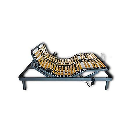 Ventadecolchones - Cama Articulada Reforzada Adaptator con Motor eléctrico Medida 150 x 190 cm (2 unds 75 x 190 cm + unión): Amazon.es: Hogar