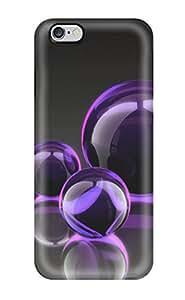 New Style AmandaMichaelFazio Hard Case Cover For Iphone 6 Plus- Pretty Purple Bubble Cluster