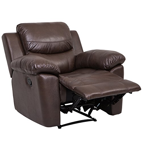 Cheap JUNTOSO Manual Recliner Sofa Chair Air Leather Sofa for Living Room Lounge – Chocolate …