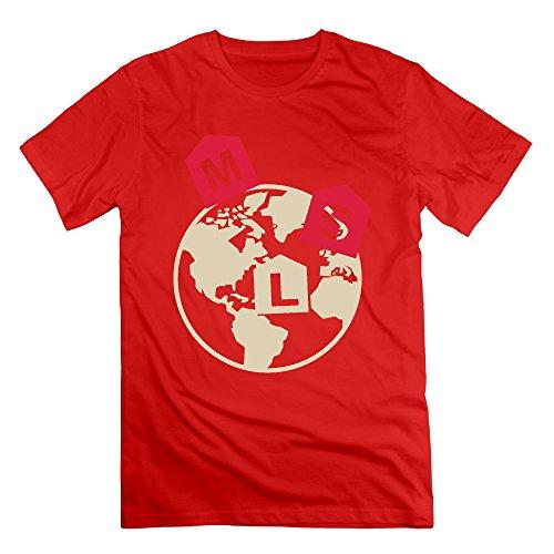 Red RMVEP The Earth Man's Fashion Short Sleeve T Shirt Size XXL -