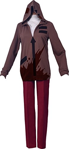 ROLECOS Isaac Foster Cosplay Costume Daily Halloween Womens Suit Set Costume CC4337A (Brown Angel Wig)