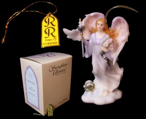 Classic Angel Statue Roman Seraphim with Candle Figurines Home Office Indoor Outdoor Decorative Memorial Accent Bereavement Decor Baptism Christmas Decor Ornament