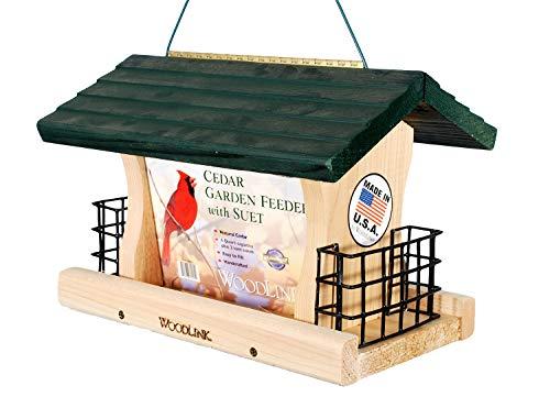 Woodlink GGRF3 Cedar Garden Green Roof Feeder with Suet Cages, Large
