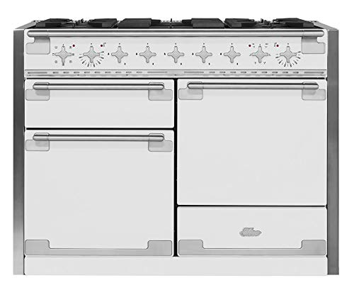 AGA AEL48DF-WHT Elise Dual Fuel Range with 3 Separate Ovens, 48