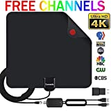 TV Antenna Indoor Digital HDTV Antenna, 50 Miles Rang HD Antenna with Amplifier