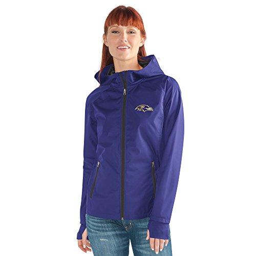 GIII For Her NFL Baltimore Ravens Women's Onside Kick Light Weight Full Zip Jacket, Large, -