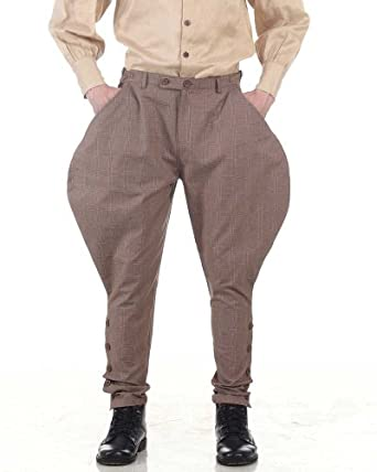 1930s Men's Costumes: Gangster, Clyde Barrow, Mummy, Dracula, Frankenstein Archibald Jodhpur Pants  AT vintagedancer.com