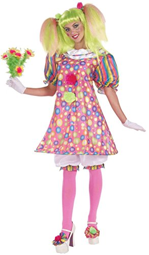 Forum Circus Sweeties Tickles The Clown Dress, Pink, Standard Costume