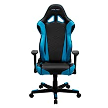 DXRacer OH/RE0/NB Racing Series Black and Blue Gaming Chair - Includes 2 free cushions and Lifetime warranty on frame