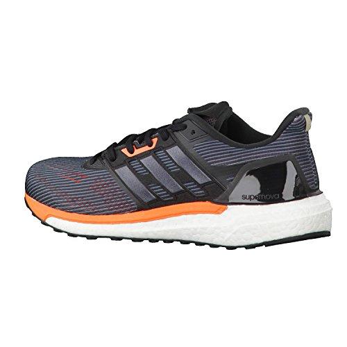 adidas Supernova M, Zapatillas de Gimnasia para Hombre, Blu Scuro / Argento Gris (Utility Black /core Black/solar Orange)
