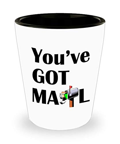 You've got mail 11oz Shot Glass - Mailman/Postal Worker/Mail Carrier Inspirational Occupations/Professions Ceramic Cup Gift for Men and Women