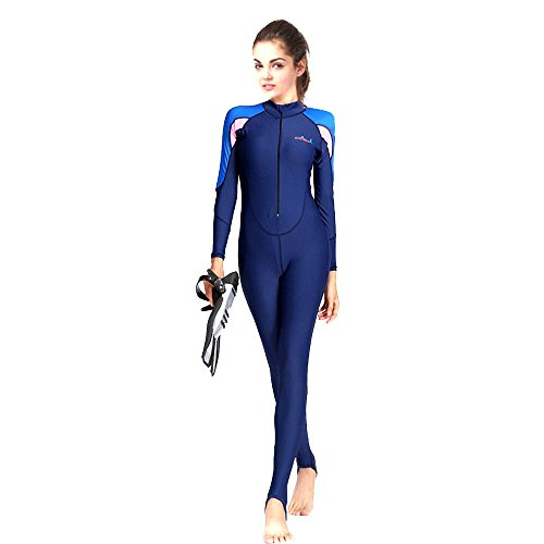 Zipper Skin Costume (Full Wetsuits/Dive Skins/Diving Suit,Freehawk Adult/Teenager UPF 50+ Protection-Lycra Full Body Diving Suit&Sport Skin Sea Surf with Hooded for Scuba Dive,Snorkel, Swim,Spearfishing(Women's Pink, M))