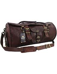 Yuge Bear 24 FR1 Vintage Genuine Leather Flap Duffel Weekender Bag