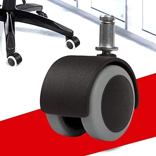 Panamami Rotelle per mobili rinforzate silenziose Ruote per Sedia da Ufficio da 2 Pollici in Poliuretano Universale Ruota per Sedia da Ufficio Ruote-Grigio