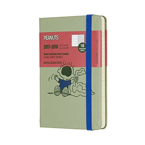 Moleskine Limited Edition Peanuts, 18 Month Weekly Planner, Pocket, W Green (3.5 x 5.5)