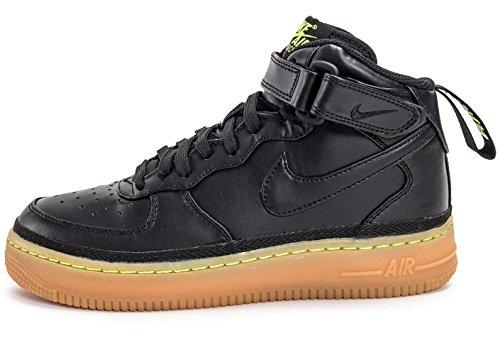 Nike Boys Air Force 1 Mid LV8 (GS) Black Gum Sneakers Black/Black/Gum Light Brown