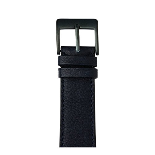Roobaya | Premium Sauvage Leather Apple Watch Band in Dark Blue | Includes Adapters matching the Color of the Apple Watch, Case Color:Space Gray Aluminum, Size:38 mm by Roobaya