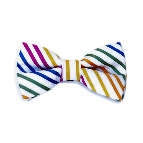 Born to Love - Boys, Baby, Newborn, Toddler Pre Tied Adjustable Bow Tie Bright Multicolored Stripes Bowtie by Born to Love