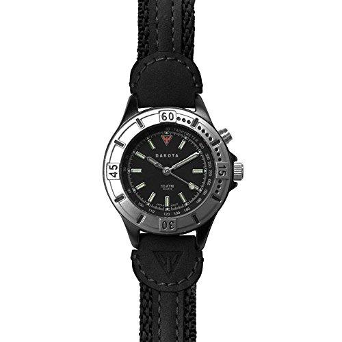 - Dakota Women's Quartz Stainless Steel and Leather Watch, Color:Black (Model: 27278)
