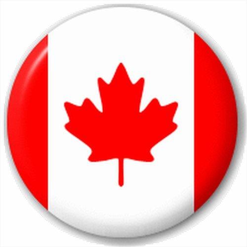 [Button Badges Men's (D Pin) 25Mm Lapel Pin Button Badge: Canada - Canadian Flag] (Canada Collectible Pin)