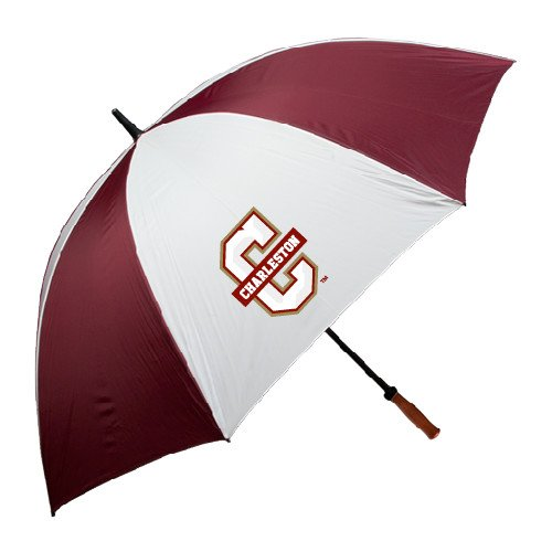 College of Charleston 62 Inch Maroon/White Umbrella 'Official Logo - C Charleston' by CollegeFanGear